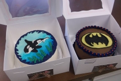 batman and orca cakes