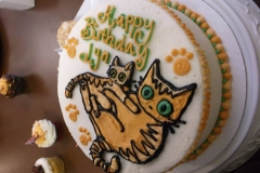 two cats cake