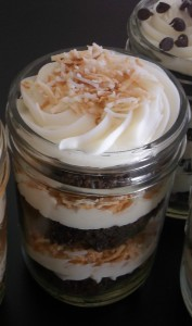 almond joy parfait