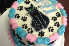 pink blue cat cake